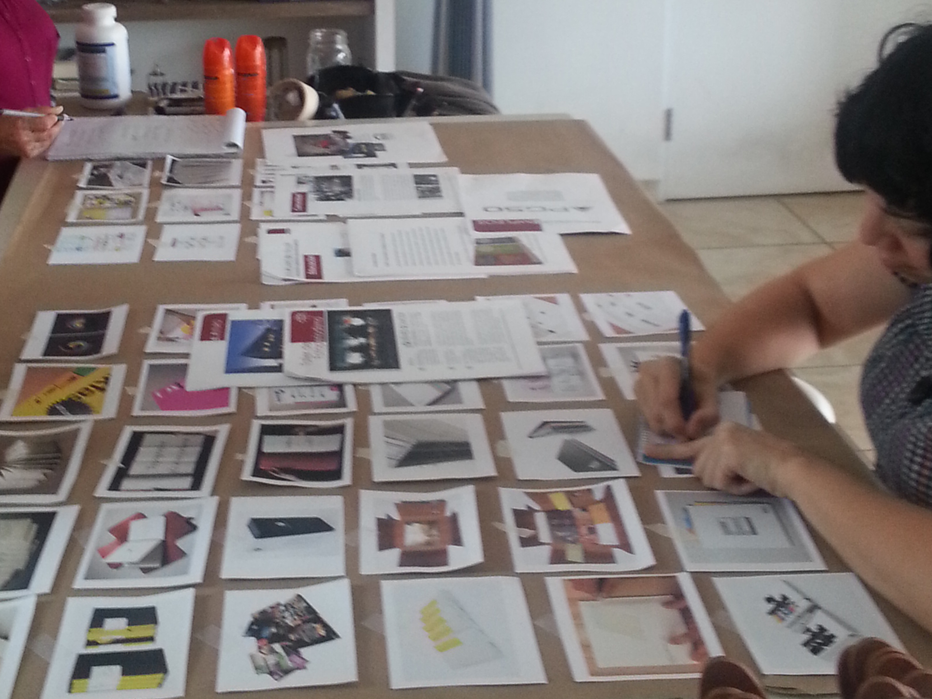 Marla Cirino working on the mood board session